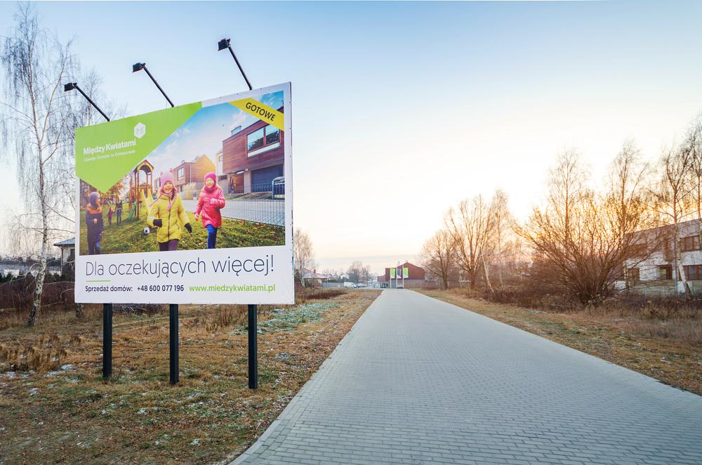 T3S-ReSupport-Pruszków-Między Kwiatami - billboard w dzień