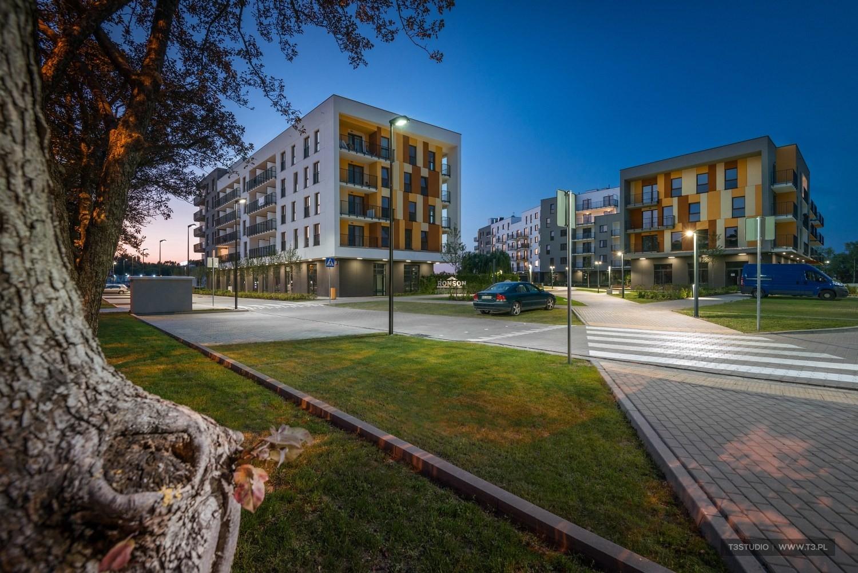 Zdjęcia architektury - osiedle Miasto Moje - projekt Ronson Development