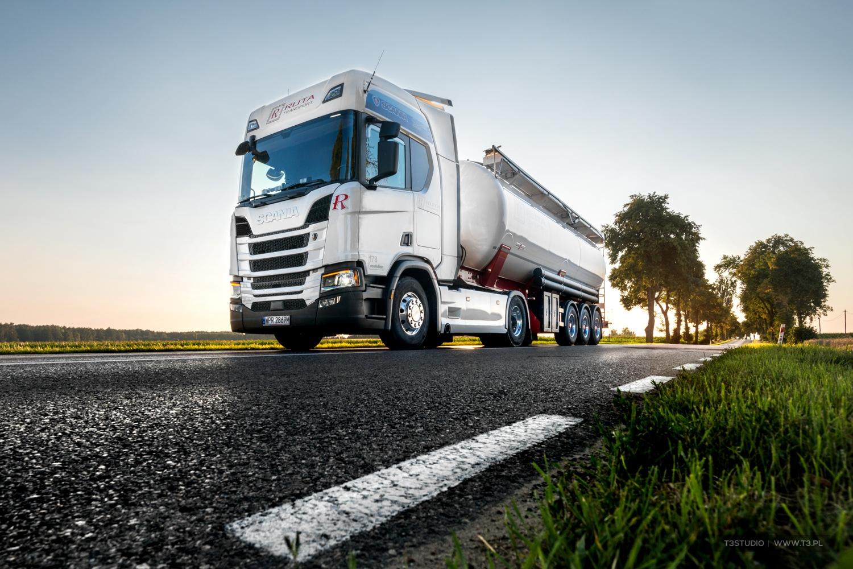 Pojazdy Ruta Transport - Ciężarówki Scania - ciągniki siodłowe z naczepami typu silos